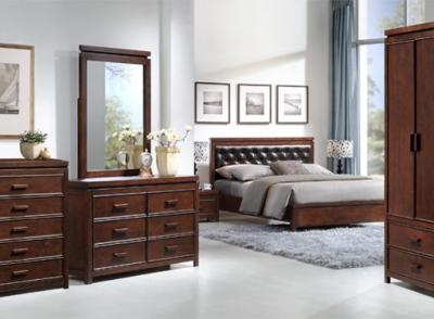 Home - Elements (Bed Dark Wood)